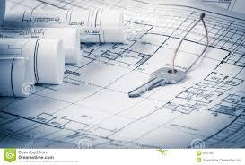 rolls of architecture blueprint u0026 work tools royalty free stock