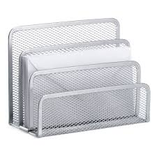 Desk Letter Organizer Silver Mesh Letter Holder The Container Store