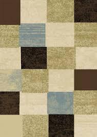 Squares Area Rug Modern Geometric Squares 8x11 Area Rug Contemporary Carpet Approx