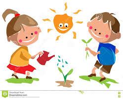 gardening kids stock vector image 81389378
