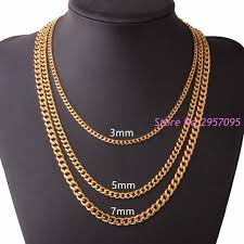 cuban link necklace images Customized 3 5 7mm wide mens boys chain necklace curb cuban link jpg