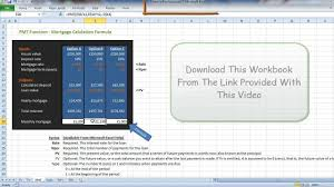 Loan Spreadsheet Template by Mortgage Repayment Excel Calculation Explained Youtube