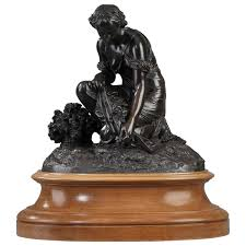 Buddha Statues Home Decor Bronze Statue Of Woman Picking Flowers By Pierre Alexandre