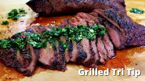 grilled tri tip on big green egg grilling tri tip recipe malcom