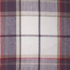 designer laura ashley highland check grape purple fabric cushion