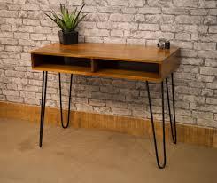 mar 004 mango top contemporary desk with hair pin legs