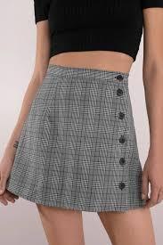 plaid skirt fearless black multi plaid skirt 29 tobi us