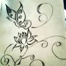 butterfly and a lotus flower the power of simple paper and pencil