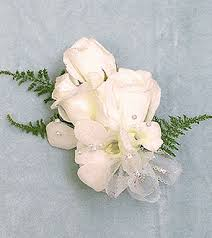 White Corsages For Prom White Rose Wrist Corsage
