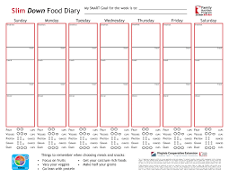 diet planner template slim down eat smart move more food record