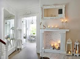 deko ideen wohnzimmer deko ideen mit weißen spiegeln im vintage stil als moderne