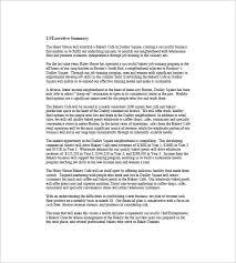 marketing plan executive summary template 11 free sample