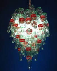 Glass Bottle Chandelier Let There Be Light Upcycled Chandeliers Give Coke Bottles New