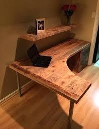 rustic l shaped desk l shaped office desk for sale medium size of wood desk small desk