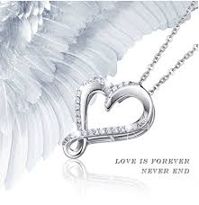platinum plated necklace images 925 sterling silver infinity heart necklace billie bijoux png