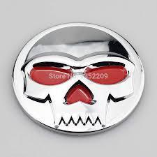 suzuki symbol free shipping 1pair chrome 3d skull abs stickers emblem badge