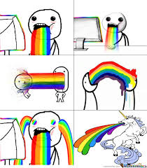 Rainbow Meme - webmaster taking a rainbow by bakuganbrawlers girl meme center