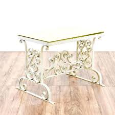 console tables wrought iron patio furniture glass top console
