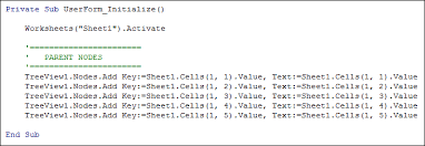 excel vba the initialize event