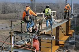 ironworkers complete stan musial veterans memorial bridge the