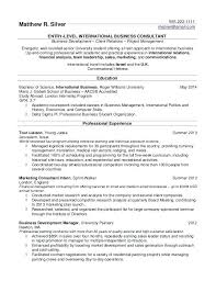resume example for college student samples of resumes resume