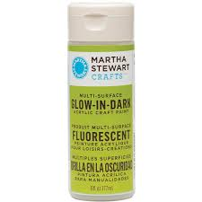 martha stewart crafts 6oz multi surface glow in the dark acrylic