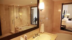 modern hotel bathroom interior of the toilet and bathroom in a modern hotel without
