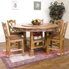 Two Tone Pedestal Dining Table Elegant Rustic Two Tone Wooden Round Single Pedestal Dining Table