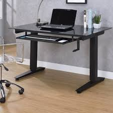 Computer Desk With Adjustable Keyboard Tray Keyboard Tray Standing Height Adjustable Desks You Ll Wayfair