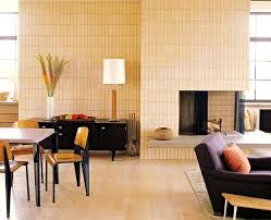 furniture lovely mid century modern living room fireplace set