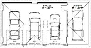 4 car garage size standard garage floor plan due home building plans 44125