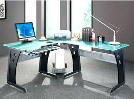 L Shaped Glass Desks Contemporary Glass Desk Desks For Home Office Modern Furniture