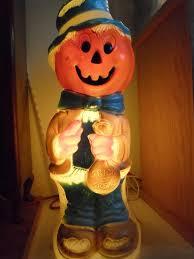 34 scarecrow pumpkin mold light up yard decor