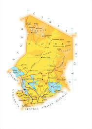 Africa Country Map Chad Country Map Chad Africa U2022 Mappery