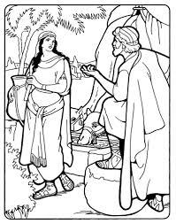 rebekah and isaac rebekah at the well bible coloring page isaac
