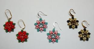 beginner earrings beginner bead weaving class starburst earrings