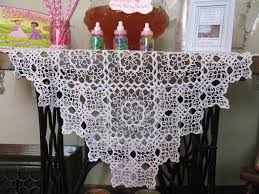 country style snowflake crochet lace tablecloths the lace and