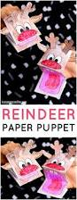 printable reindeer paper puppet easy peasy and fun
