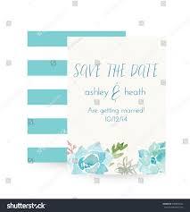 Succulent Wedding Invitations Succulent Invitation Succulent Wedding Invitation Vector Stock