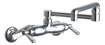 Kitchen Pot Filler Faucets by Faucet Com 445 Dj13abcp In Polished Chrome By Chicago Faucets