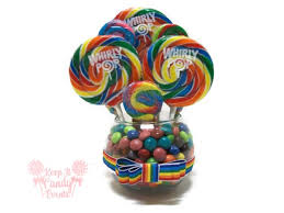 Small Centerpieces Small Rainbow Candy Centerpiece Rainbow Lollipop Centerpiece