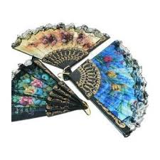 folding fans bulk floral folding fan size 9 1 dozen 12