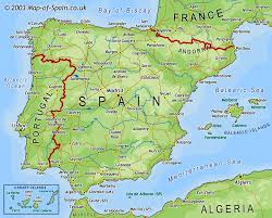 spain on a map map of spain map
