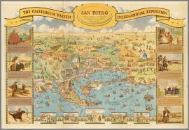 Map Of San Diego by California Pacific International Exposition San Diego David