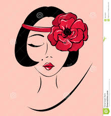 woman in a headband with poppy flower royalty free stock photos