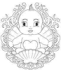 baby coloring pages 9748