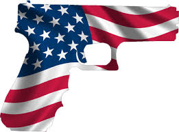 American Flag Specs American Flag Hand Gun Decal Sticker