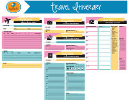 trip planner templates editable digital planner travel planner printable vacation
