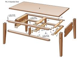 two drawer coffee table woodworking magazine popular