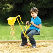 the classic sit on sand excavator hammacher schlemmer